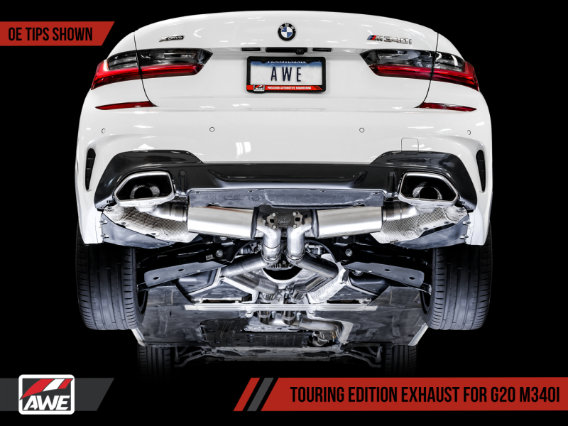 AWE Tuning 2019+ BMW M340i (G20) Non-Resonated Touring Edition Exhaust (Use OE Tips)