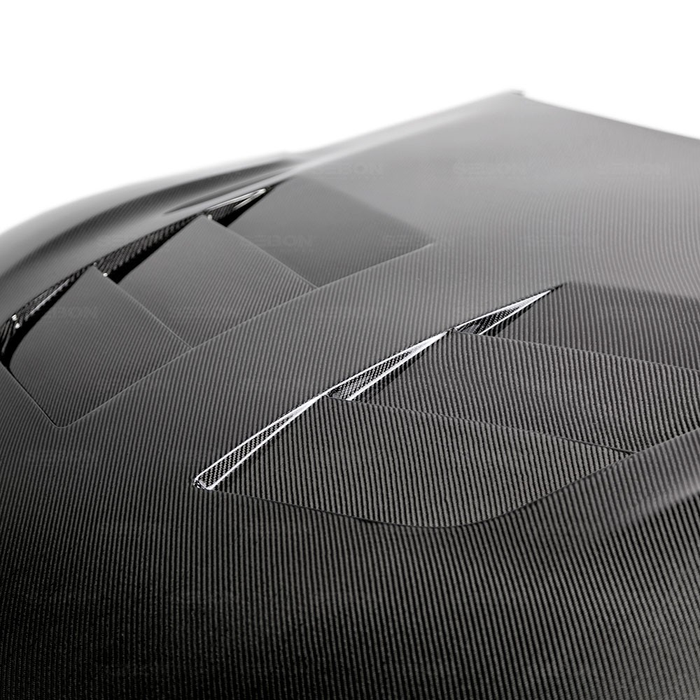 TSII-STYLE DOUBLE-SIDED CARBON FIBER HOOD FOR 2020 TOYOTA GR SUPRA