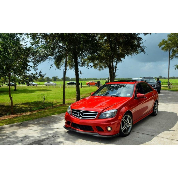W204 PRE-FACELIFT C63 GODHAND STYLE CARBON FIBER FRONT LIP