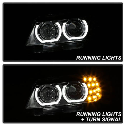 Spyder Auto BMW E90 3-Series 09-12 4DR Projector Headlights - Halogen Model Only