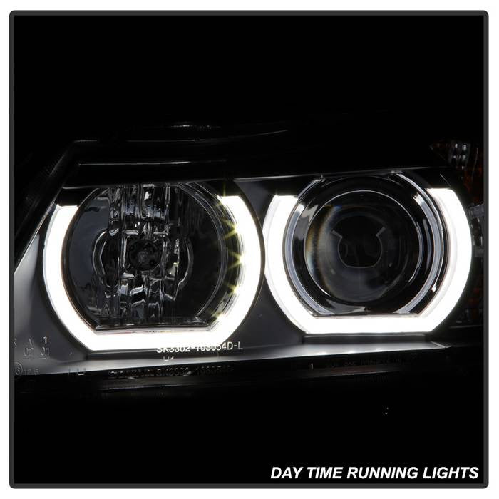 Spyder Auto BMW E90 3-Series 06-08 4DR Version 2 Projector Headlights - AFS HID Model Only