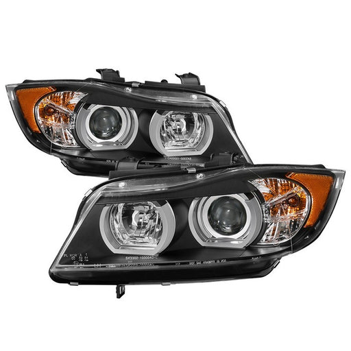 Spyder Auto BMW E90 3-Series 06-08 4DR Projector Headlights - Halogen Model Only