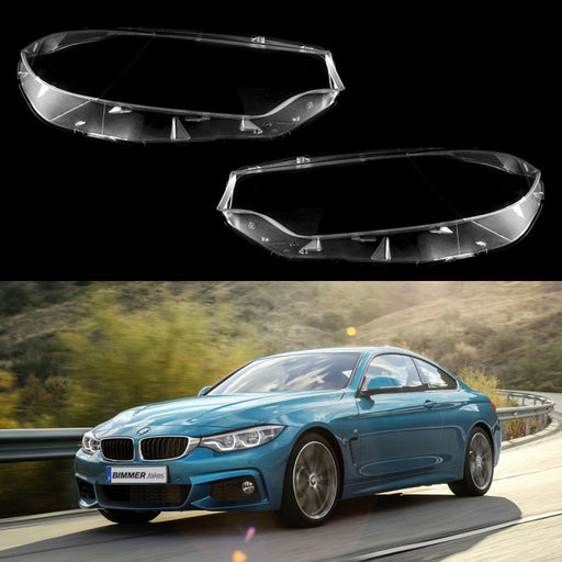 BMW 4 F32/F33/F36/M4/M3 F80 (2013-2017) - HEADLIGHT LENS PLASTIC COVERS