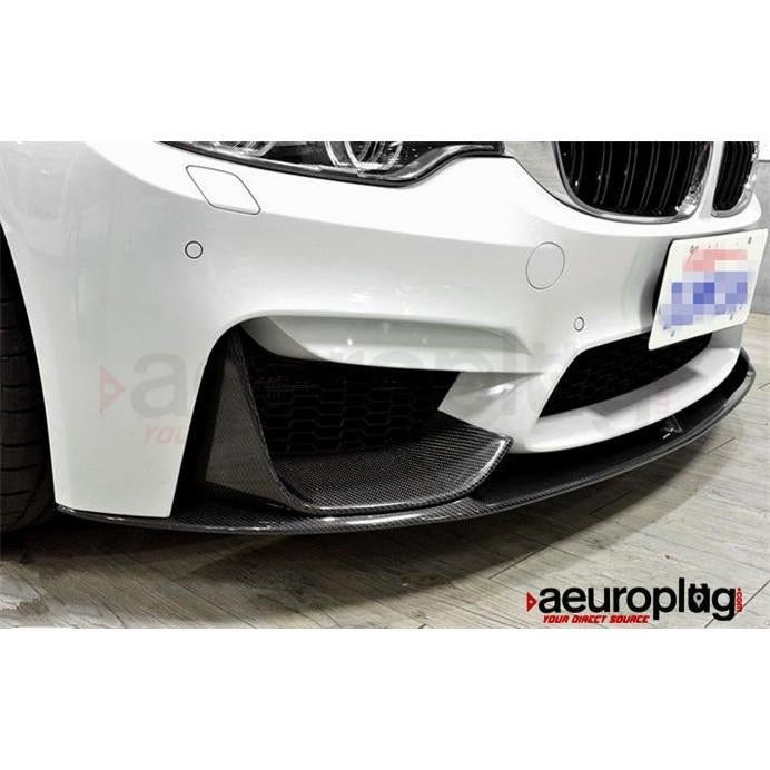 BMW F8X M3 M4 3PCS PERFORMANCE STYLE CARBON FIBER FRONT LIP