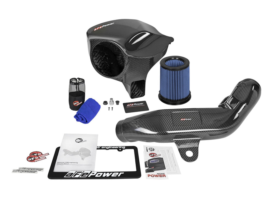 Black Series Momentum Carbon Fiber Cold Air Intake System w/Pro 5R Filter N55 M2