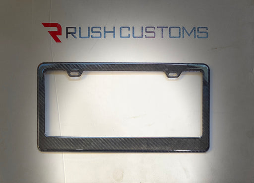 Carbon Fiber License Plate Frame- 2 Hole