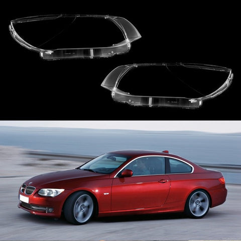 BMW 3 E92/E93 FACELIFT (2010-2013) - HEADLIGHT LENS PLASTIC COVERS