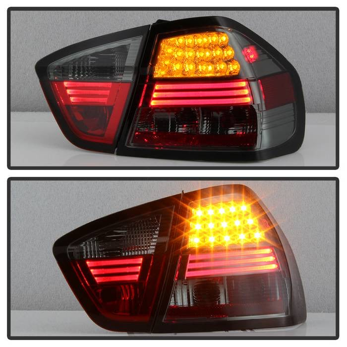 BMW E90 3-Series 06-08 4Dr LED Tail Lights - Smoke