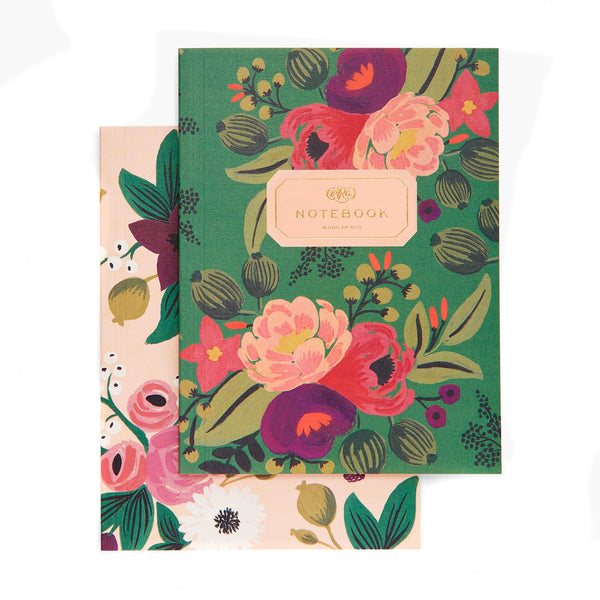 Set van vintage blossoms notebooks
