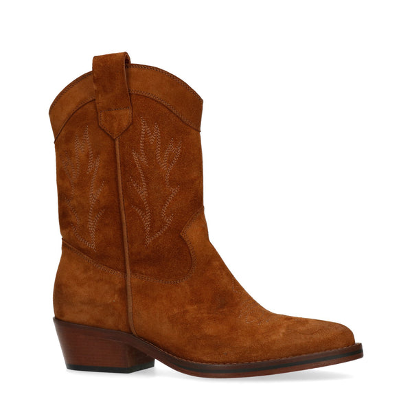 Cognac western boots Sylke
