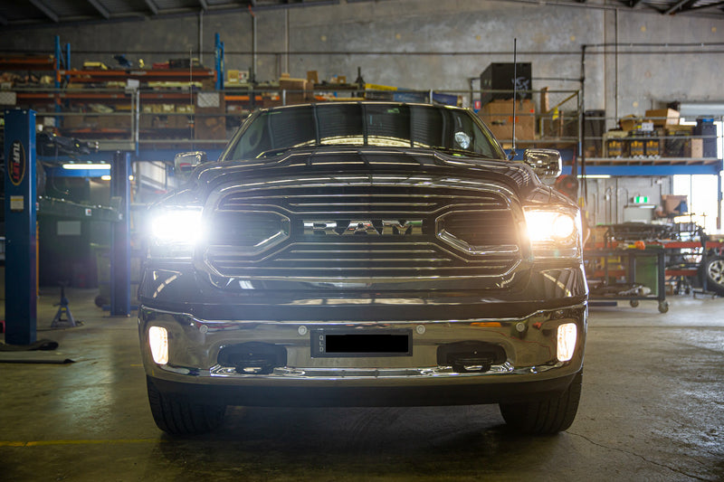 Ram 1500 / 2500 Laramie upgraded headlights