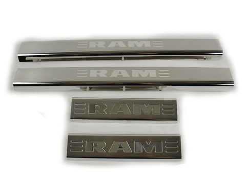 Ram Door Sill Guards - Stainless Steel
