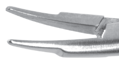 Barraquer Needle Holder - Curved Delicate Jaws Without Lock