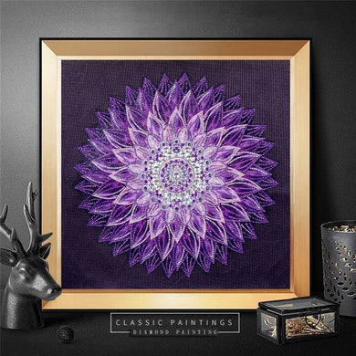 Abstract Purple Flower