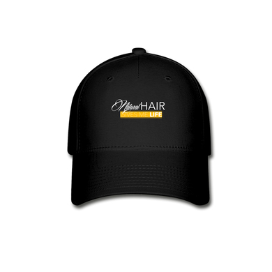 Natural Hair Baseball Cap - black