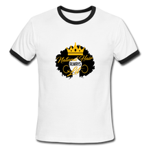 Load image into Gallery viewer, Natural Hair Ringer T-Shirt - white/black