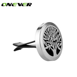 Car-styling Car Air Vent Freshener Diffuser Mini Stainless Steel Car Aromatherapy Essential Oil Fragrance Diffuser Tree of Life