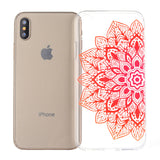 Phone Cover Ultra-slim TPU Case Mermaid Pattern Soft Protector Shell for iPhone X