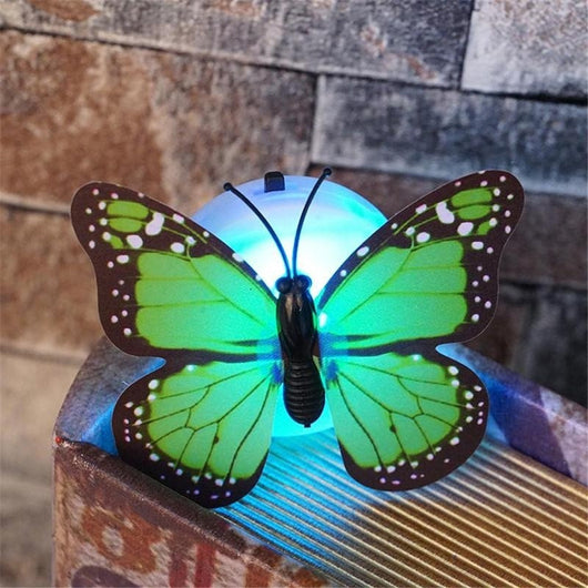 Colorful Butterfly Night Light Lamp Wall Sticker Random Color