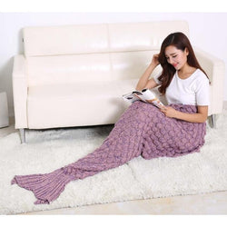 Knitted Fashion Blanket Cover Soft Mermaid Tail Blanket