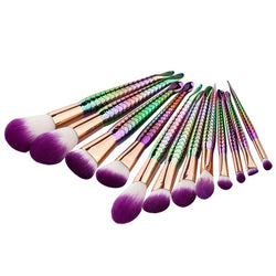 Mermaid Purple Makeup Brushes