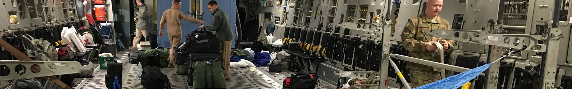 Hammock Inside Military Plane