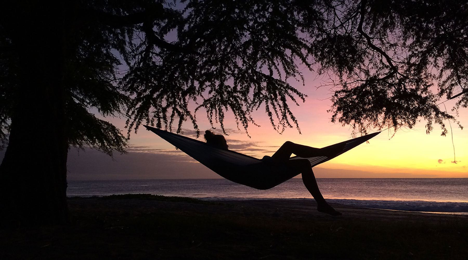Hammock Sunset On Beach