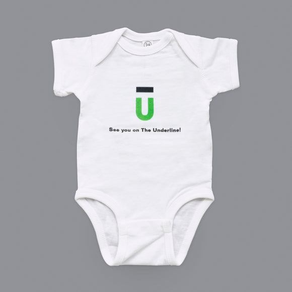 The Underline Baby Onesie