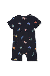 Midnight Blue Jungle Romper by Milky