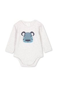 Silver Marle Tiger Bubbysuit by Milky