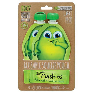 Little Mashies Resuable Squeeze Pouch - 2 pack green