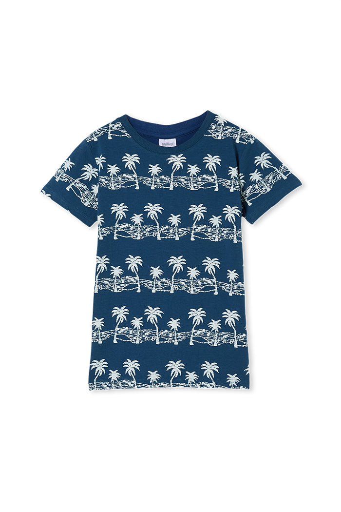 Imperial Blue Batik Tee by Milky