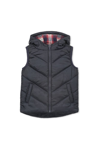 Navy Puffer Vest by Milky