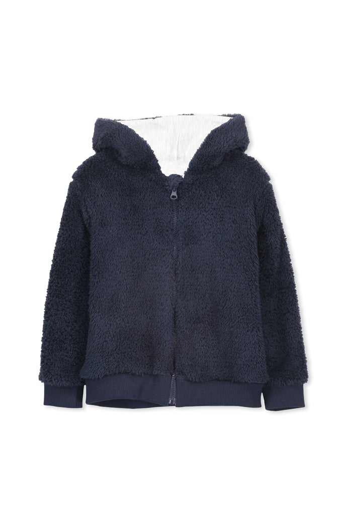 Navy Sherpa With Hood by Milky