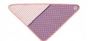Apple Park Organic Farm Buddies Purple Polka Dots Bandana Bib