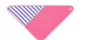Apple Park Organic Farm Buddies Pink Polka Dots Bandana Bib