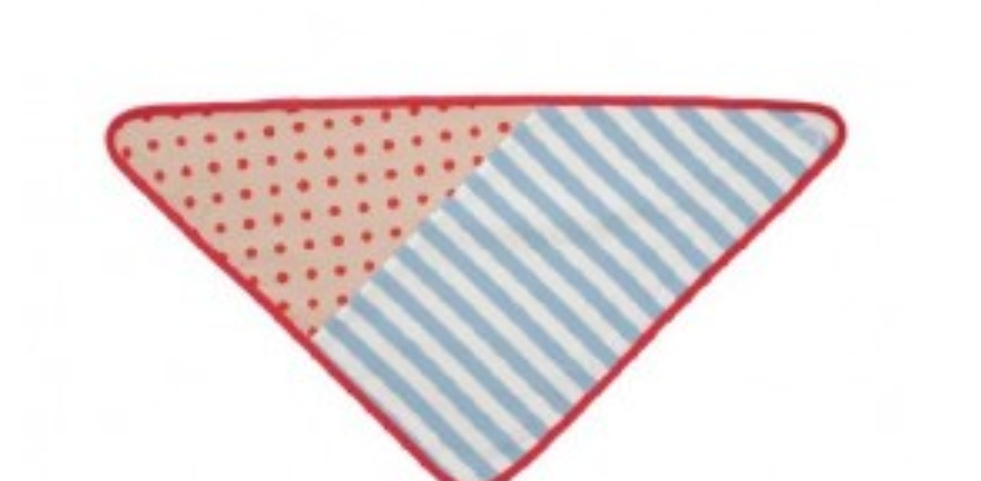 Apple Park Organic Farm Buddies Blue Stripe & Brown Polka Dot Bandana Bib