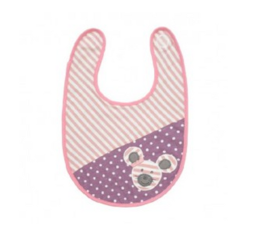 Apple Park Organic Farm Buddies Ballerina Mouse Classic Bib