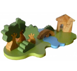 QToys Steiner Inspired Landscape Play Set