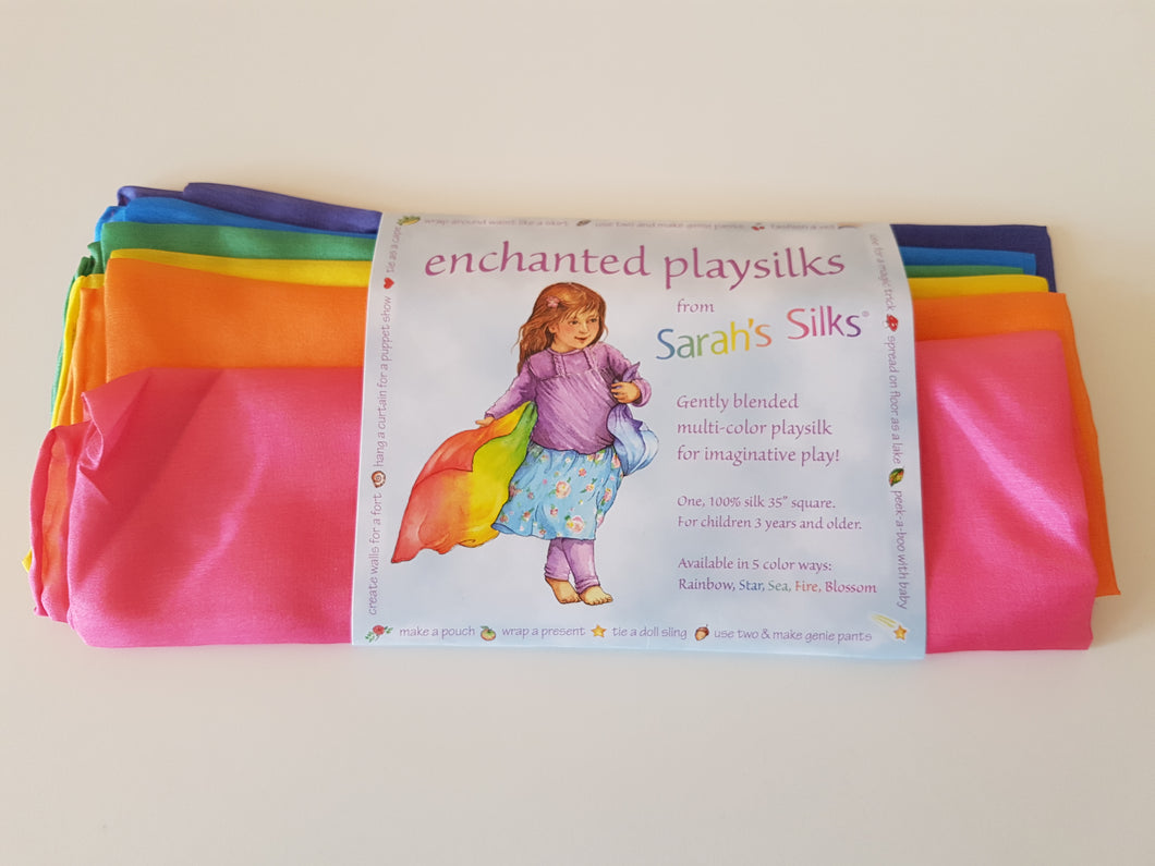 Sarah's Silks Enchanted Playsilks Rainbow