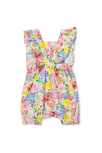 Summer Floral Baby Playsuit by Milky