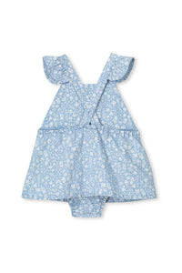 Chambray Denim Baby Dress by Milky