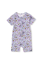 Ice Blue Floral Romper by Milky
