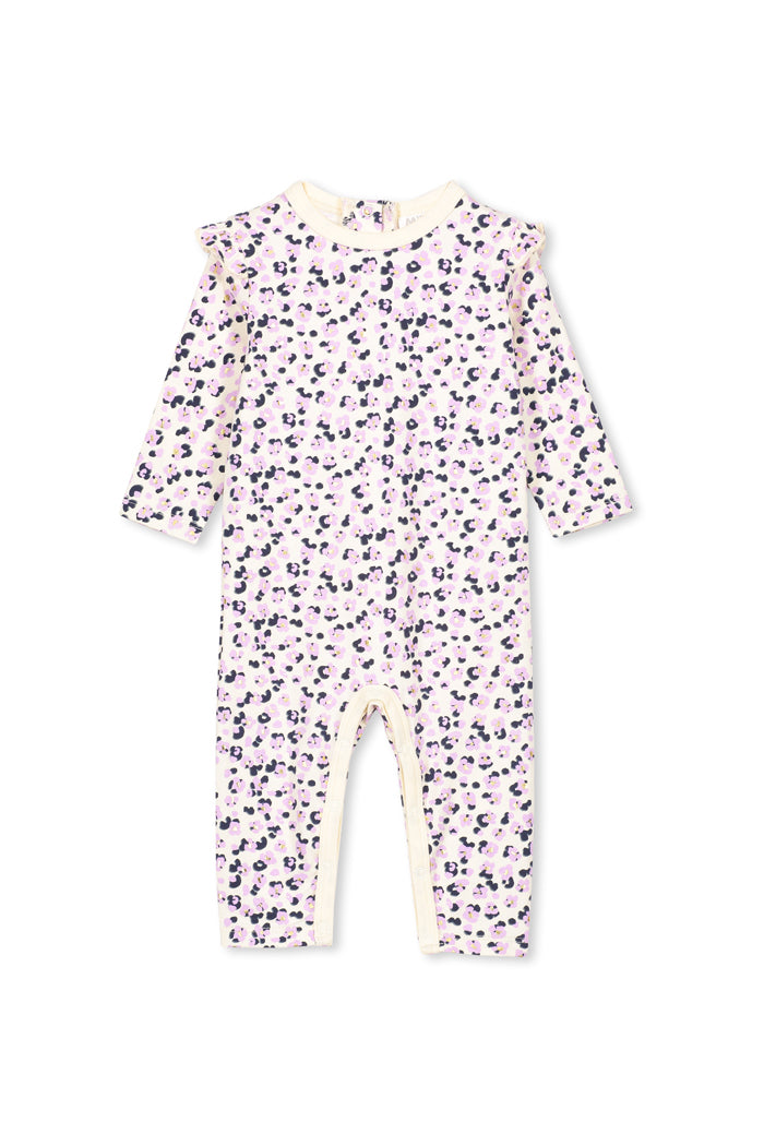 Lilac/Pale Grey Animal Romper by Milky