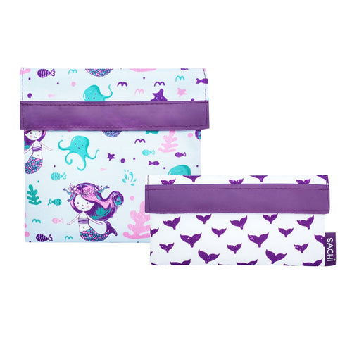 Sachi Lunch Pockets - Mermaids, set of 2