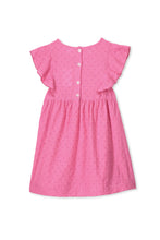 Ultra Pink Broderie Dress by Milky