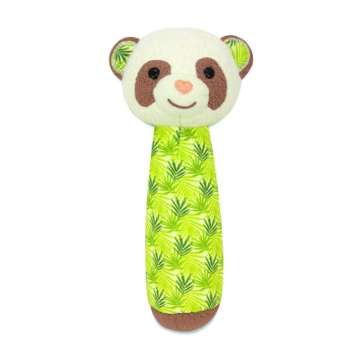 Apple Park Organic Patterned Panda Squeaky Rattle Toy