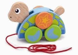 Viga Pull Along Wooden Turtle