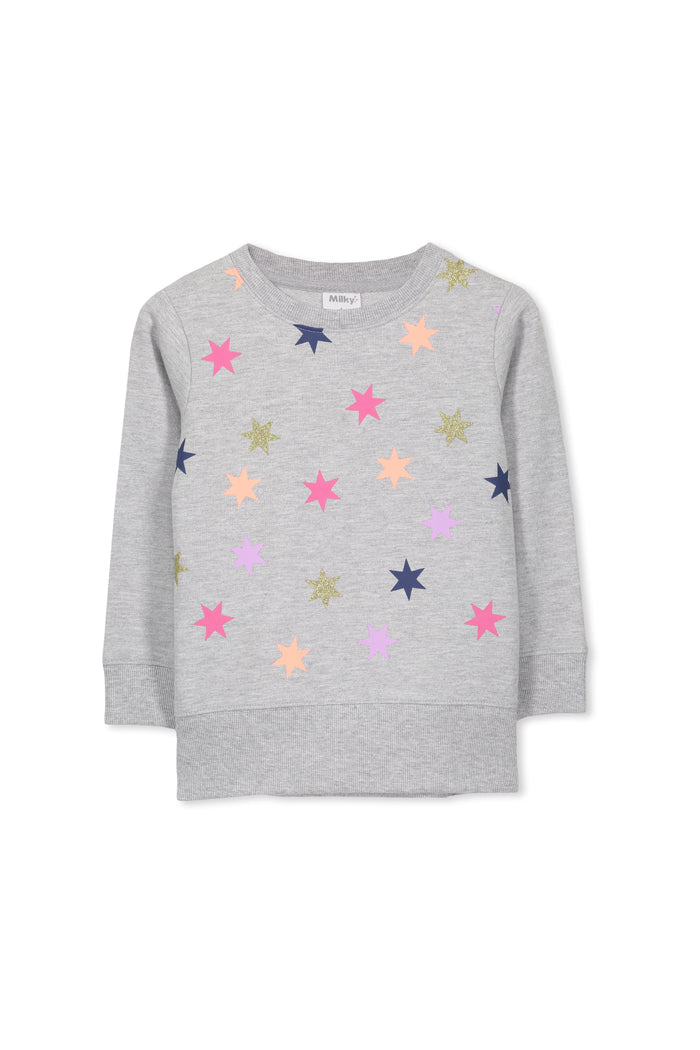 Silver Marle Star Sweater by Milky