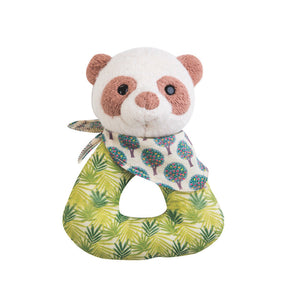 Apple Park Organic Patterned Panda Rattle